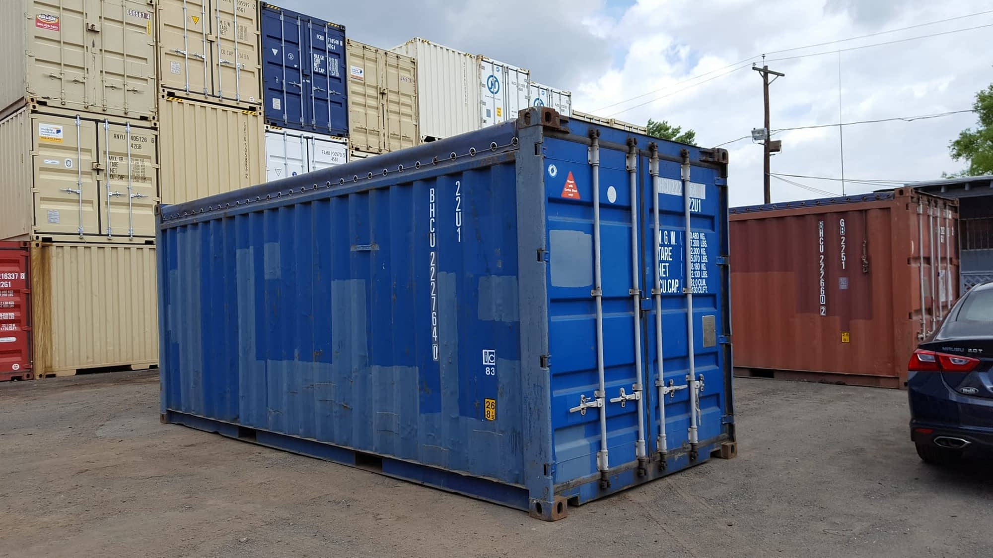 TRS Containers stocks used opentops for export or domestic use