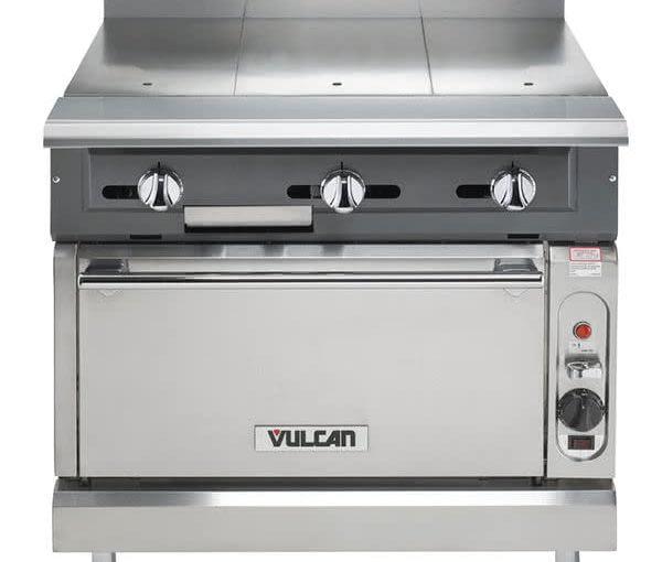 Vulcan V336HS-LP V Series Liquid Propane 3 Burner Heavy-Duty Range with 36\