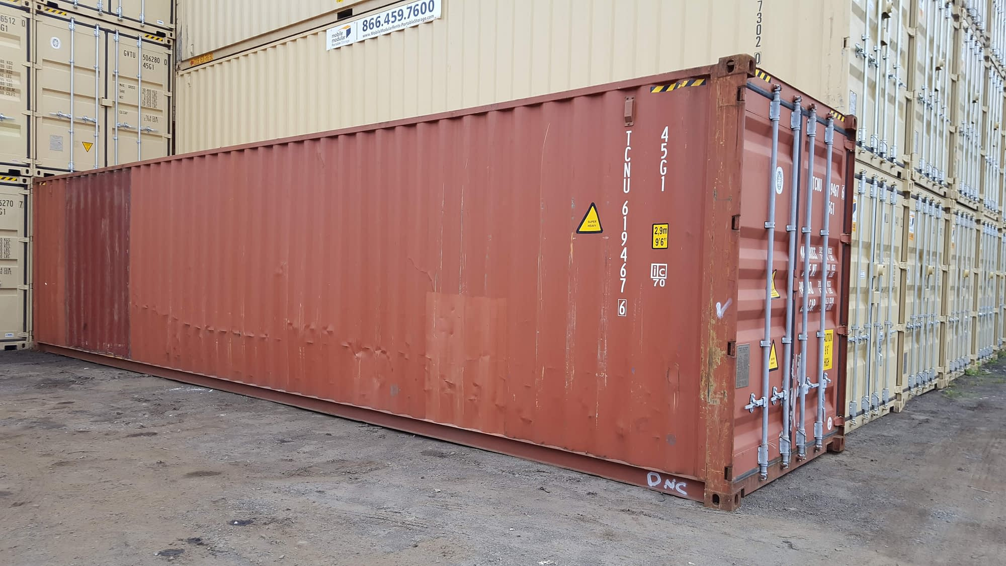 TRS Containers sells rents and modifies steel shipping and storage containers for export or domestic storage
