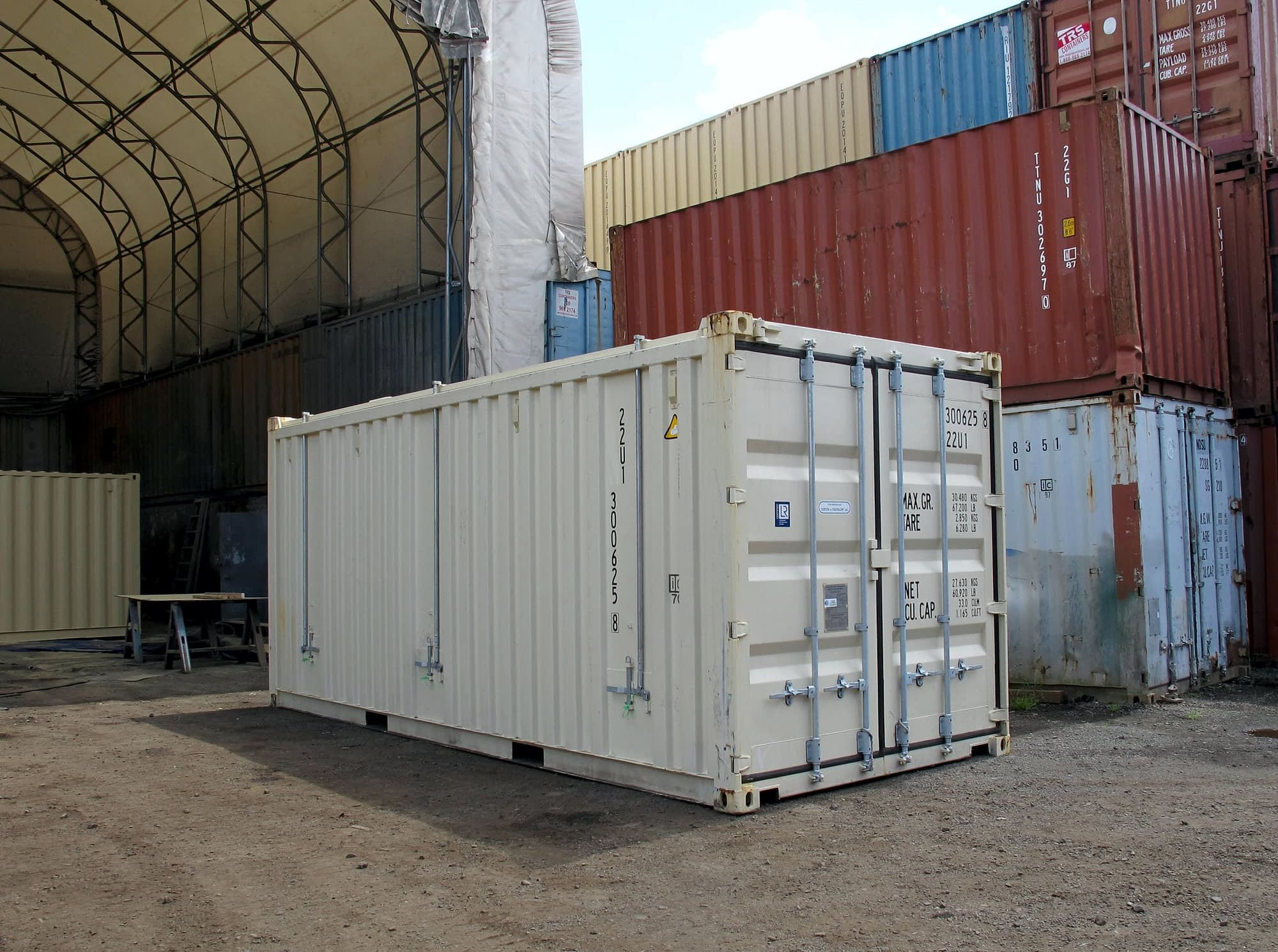 TRS Containers can provide new one-trip steel hard top open top containers