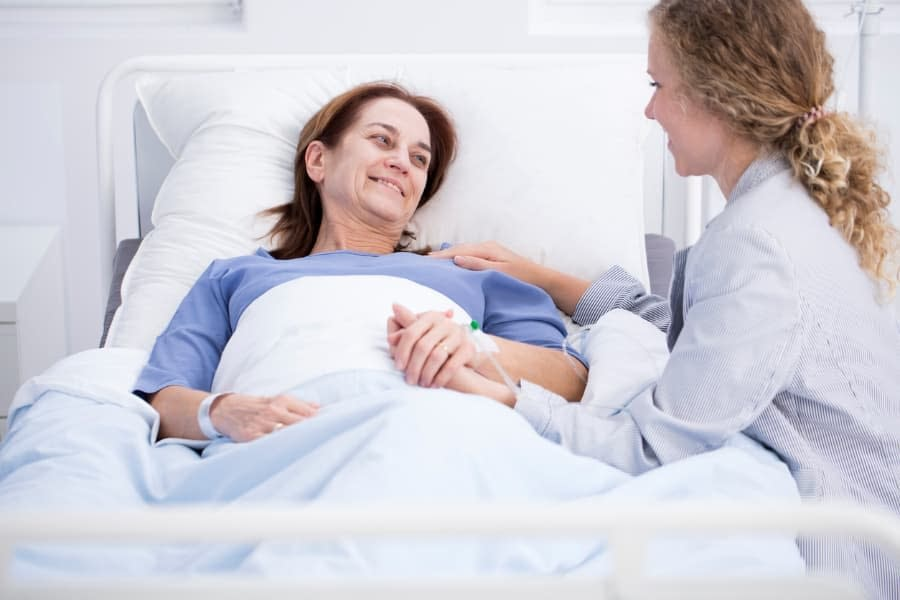 Woman Receiving Breast Cancer Treatment