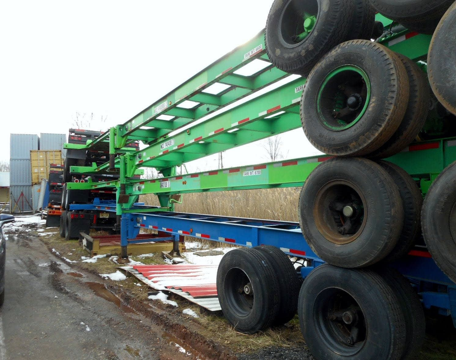 TRS sells rents new and used ISO intermodal chassis wheels