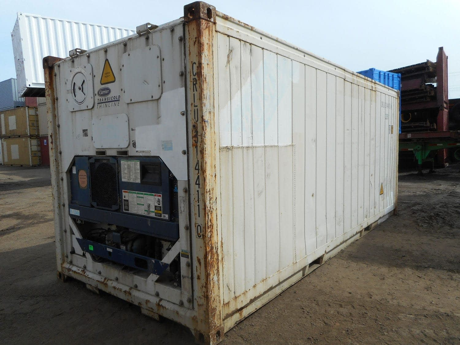 TRS 20ft long X 8'6' H used reefer and insulated containers are available for sale and rent