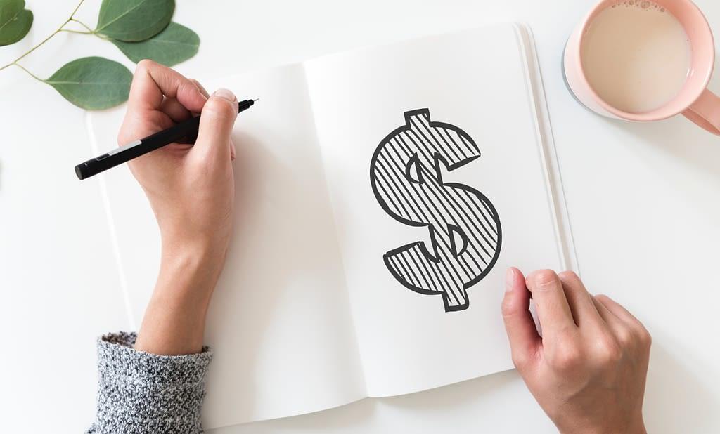 woman making a financial plan