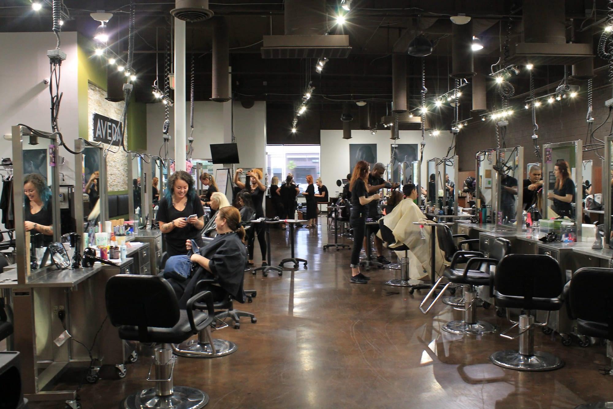 Student salon at Aveda Las Vegas