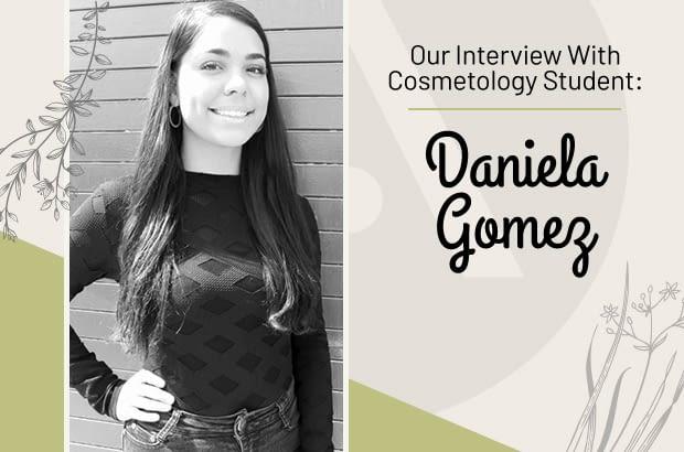 Cosmetology Student Daniela Gomez SOM at Aveda Institute Las Vegas