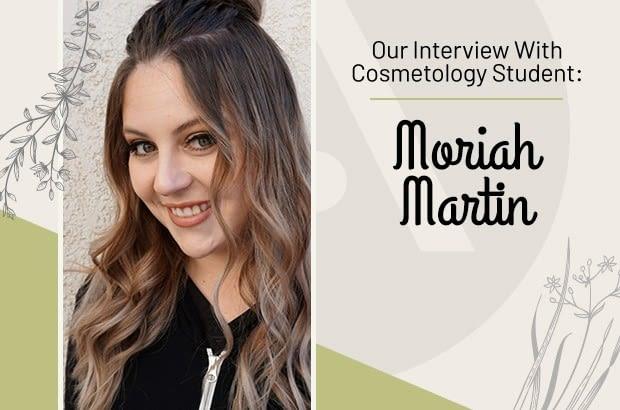 Cosmetology Student Moriah Martin at Aveda Institute Las Vegas