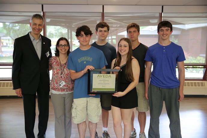 Aveda Students accepting an award