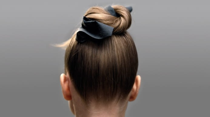 A simple and elegant bun, wrapped with fabric