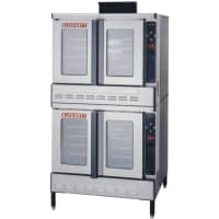 Blodgett DFG-100-ES Premium Series Liquid Propane Double Deck Full Size Convection Oven with Draft Diverter