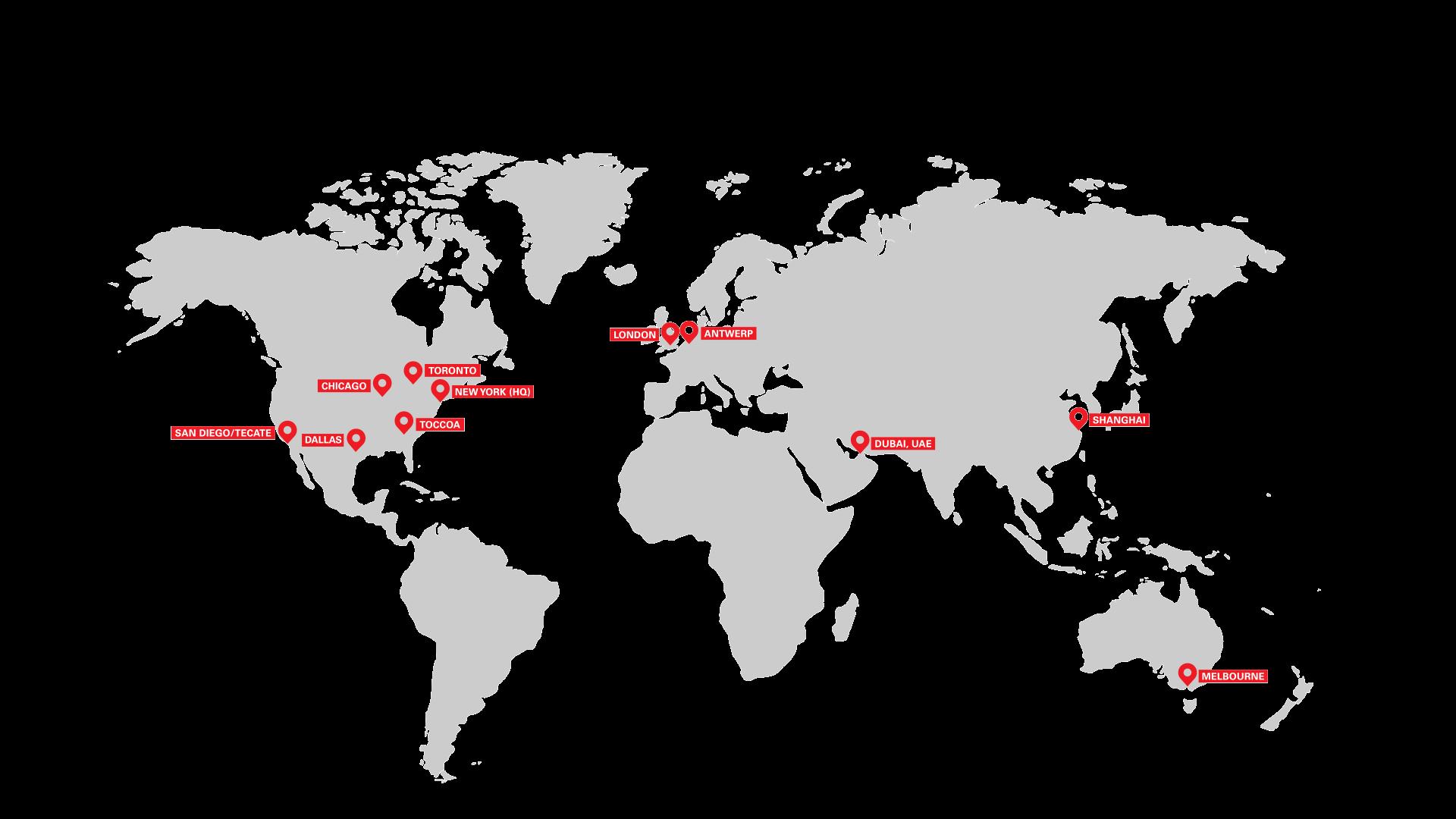 Asi Global Footprint Map