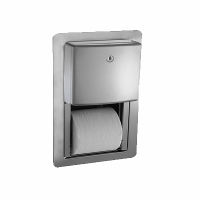 Roval™ Twin Hide-A-Roll Toilet Tissue Dispenser - Semi-Recessed