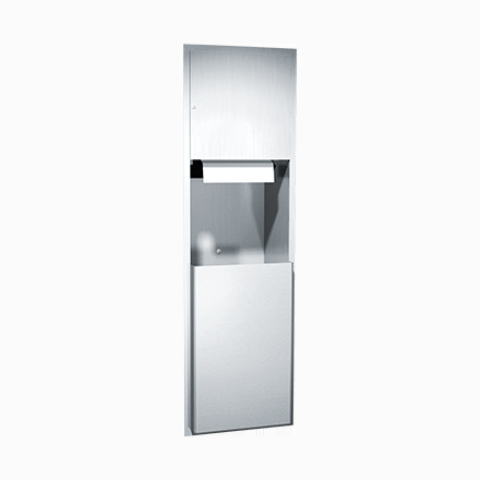 04692A ASI Automatic Roll Paper Towel Dispenser and Waste Receptacle