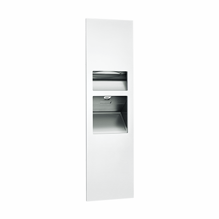 64672 1 00 Asi Piatto 3in1 Paper Towel Dispenser High Speed Hand Dryer And Waste Recptacle@2x