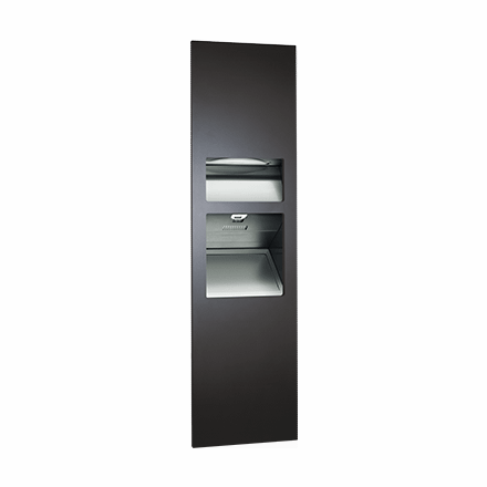 64672 1 2 41 Asi Piatto 3in1 Paper Towel Dispenser High Speed Hand Dryer And Waste Recptacle@2x