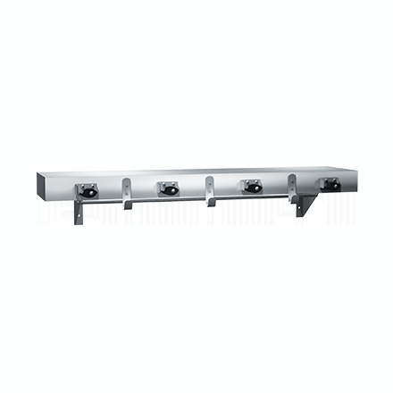 1315-4 ASI Utility Shelf with Drying Rod, Mop Holders & Rag Hooks