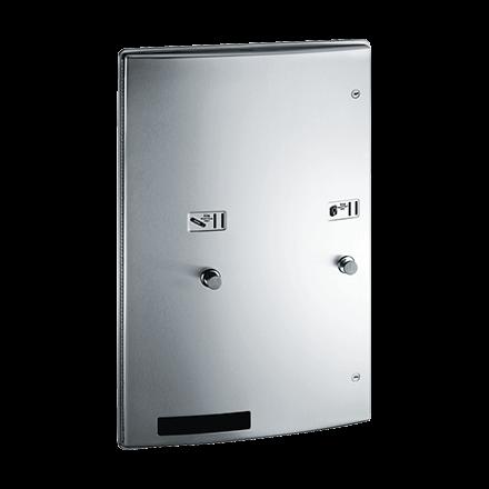 204684 ASI Recessed Dual Sanitary Napkin & Tampon Dispenser