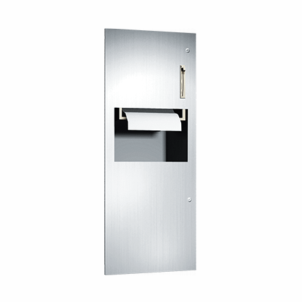64696 ASI Roll Paper Towel Dispenser and Waste Receptacle
