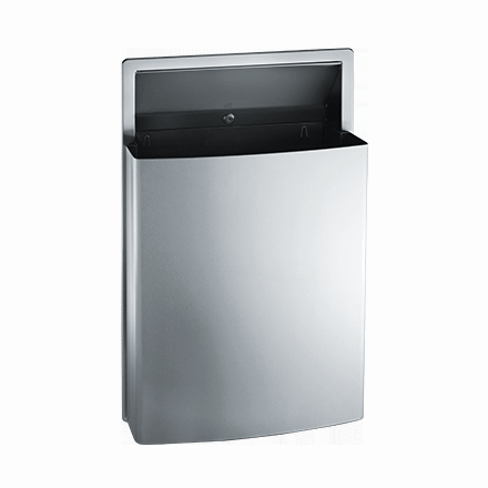 20458 ASI Semi-Recessed Removable Waste Receptacle