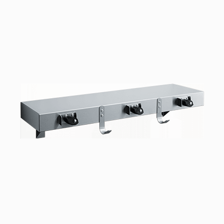 1315-3 ASI Utility Shelf with Drying Rod, Mop Holders