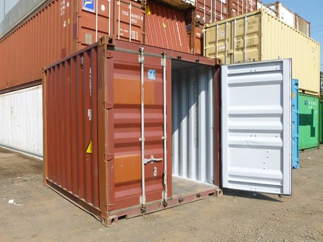 TRS rents and sells 10ft long used shipping and storage containers
