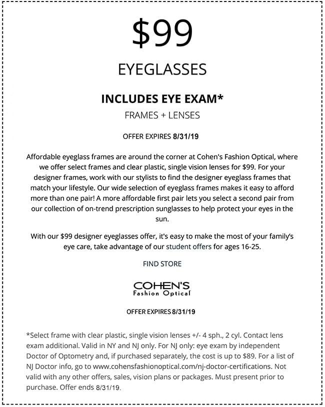 Largest Selection of Designer Frames | Cohen's Fashion Optical
