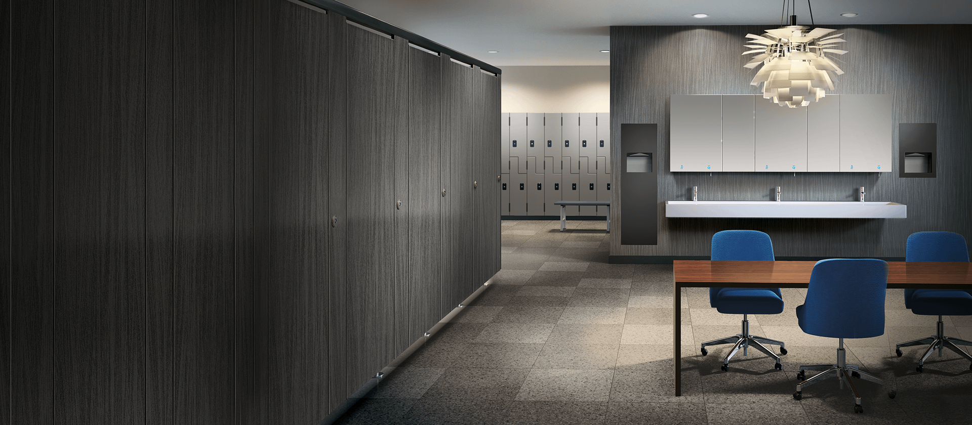 Rendering of a conference room