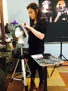 Madison Wade working on her NAHA application.