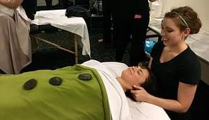 Tiffany S learns chakra massage