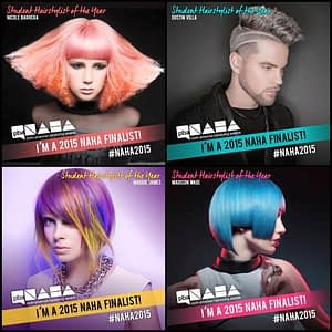 Each Inspire Greatness Institute had one student finalist for the NAHA 2015 Student Hair Stylist of the Year!
