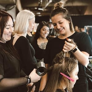 Cosmetology students gaining experience