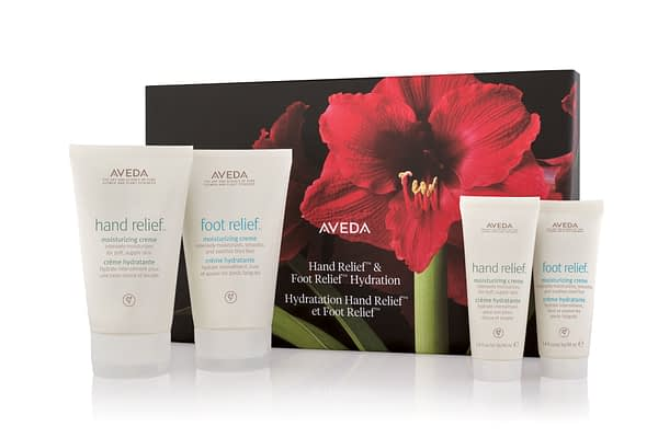 Aveda hand and foot relief bottles