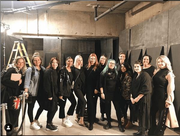 Our team at London Fashion Week.