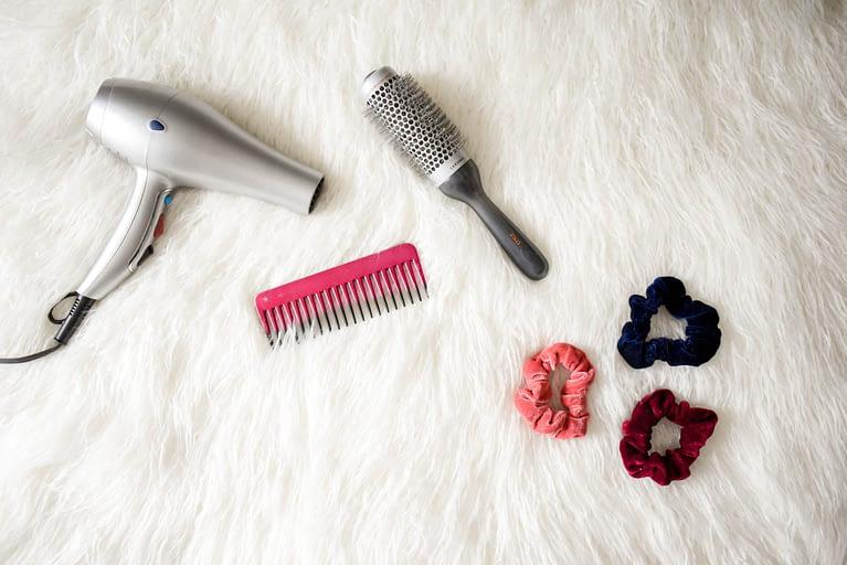 Hair supply flatlay