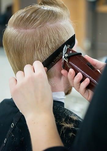 haircut aveda salon