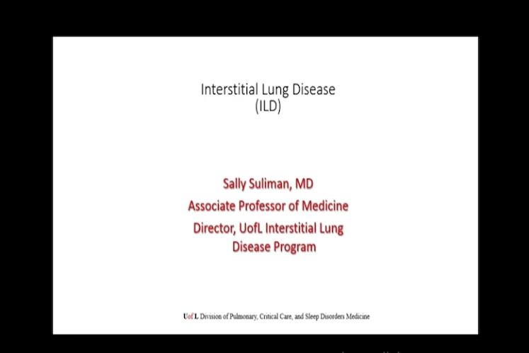 Interstitial Lung Disease with Dr. Sally Suliman