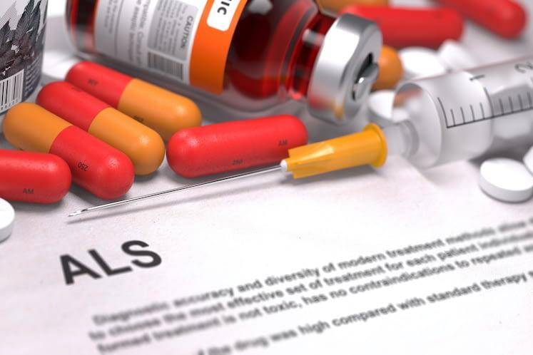 ALS Diagnosis. Medical Concept. Composition of Medicaments.