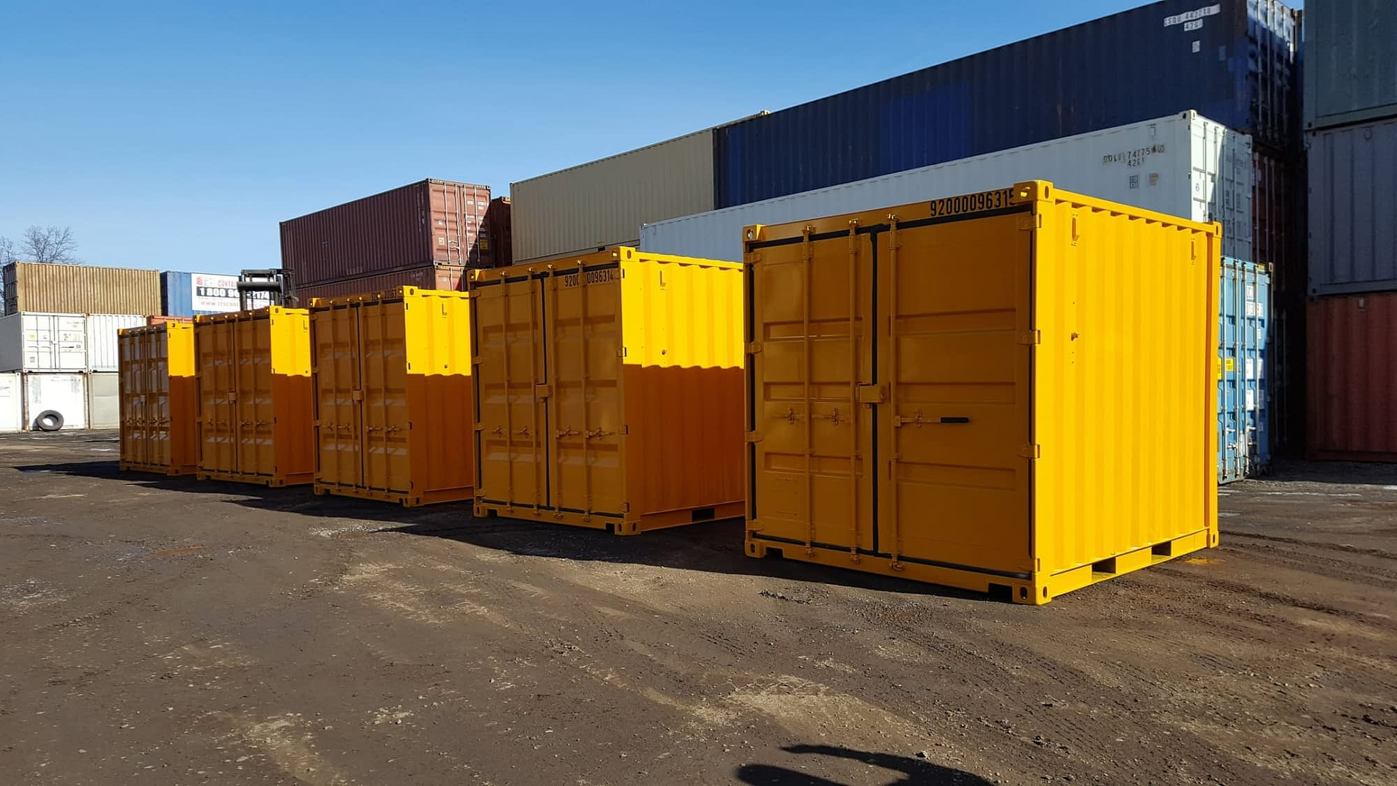 TRS Containers will paint a steel container your corporate color for an up-charge