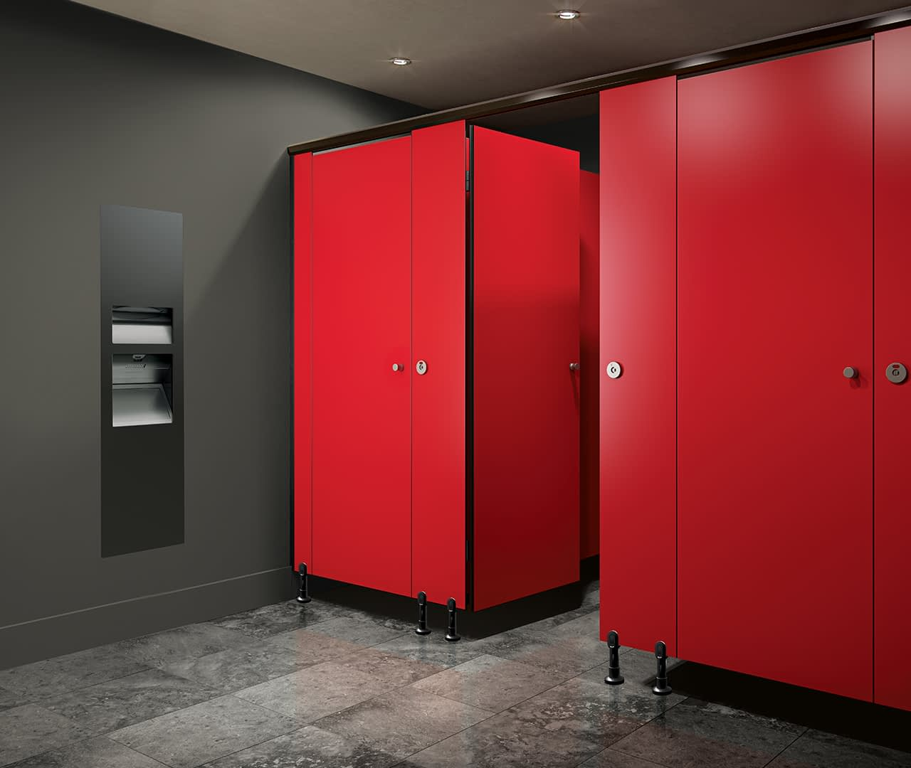 Classic cubicle bathroom partitions