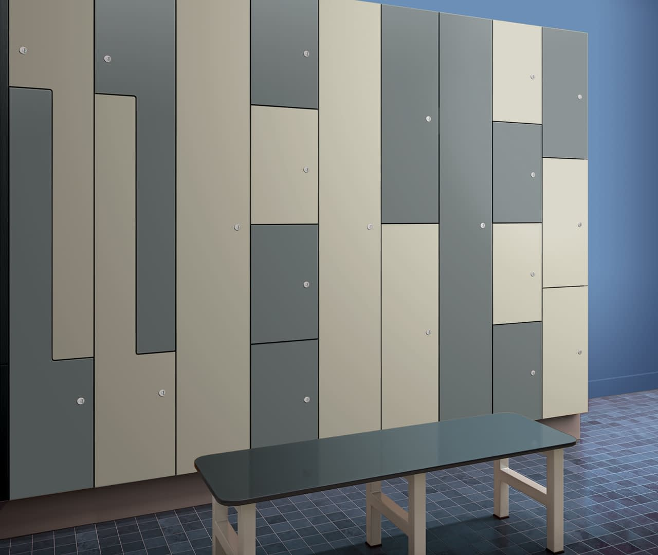 Lockers and Benches