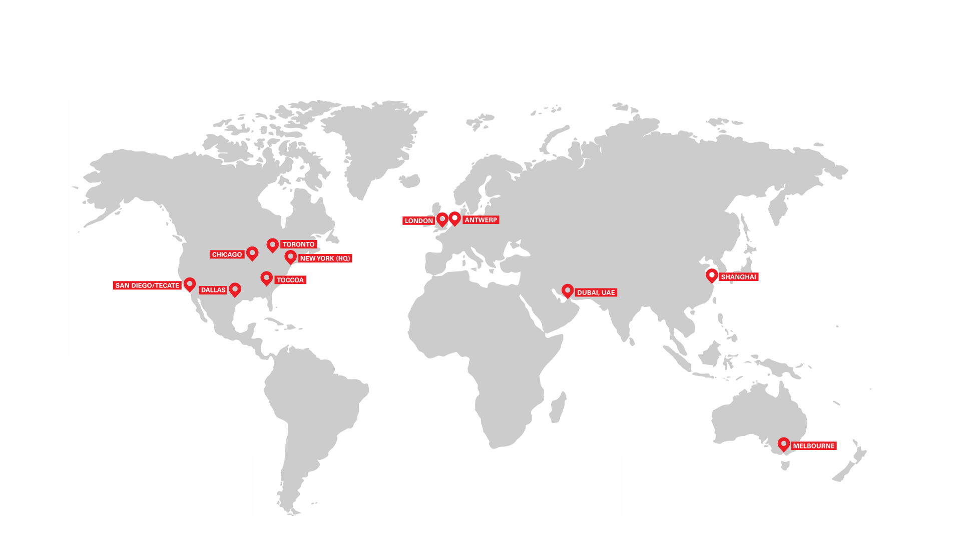 Map of ASI locations