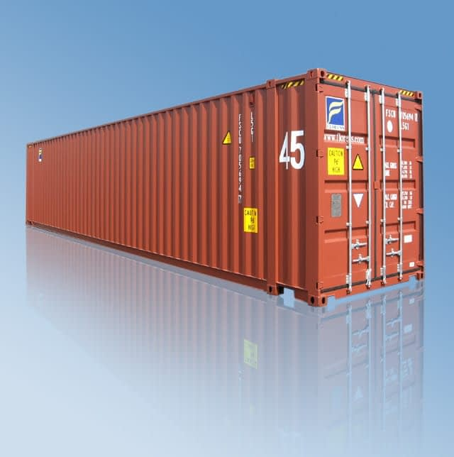 TRS Containers sells and modifies new ISO shipping containers including 45 foot long