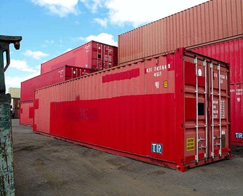 TRS Containers sells and rents 10ft, 20ft, 40ft and 45ft long ISO containers