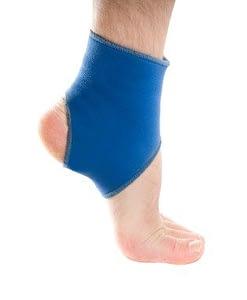 ankle in a brace