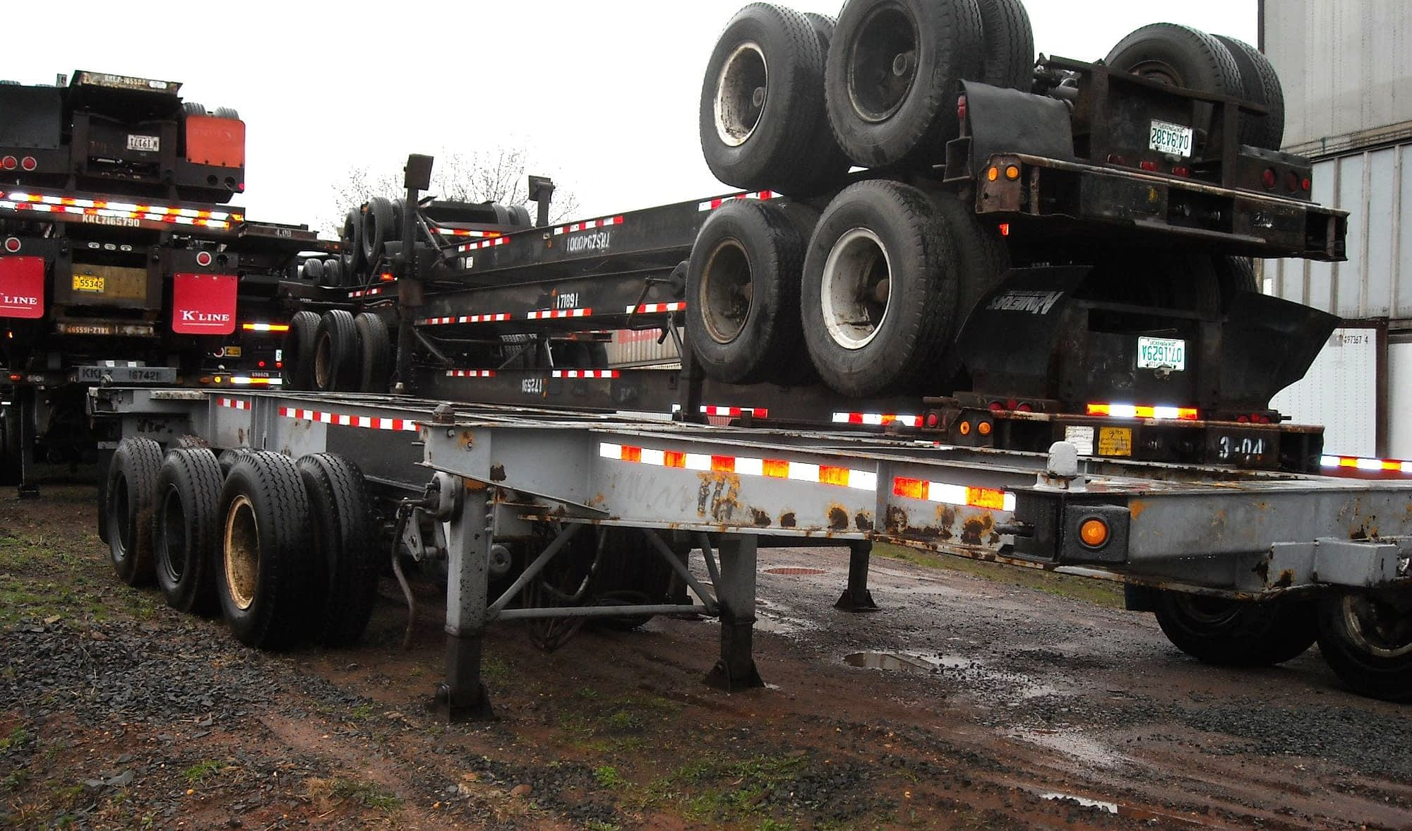 TRS sells and rents used chassis for export or domestic trucking
