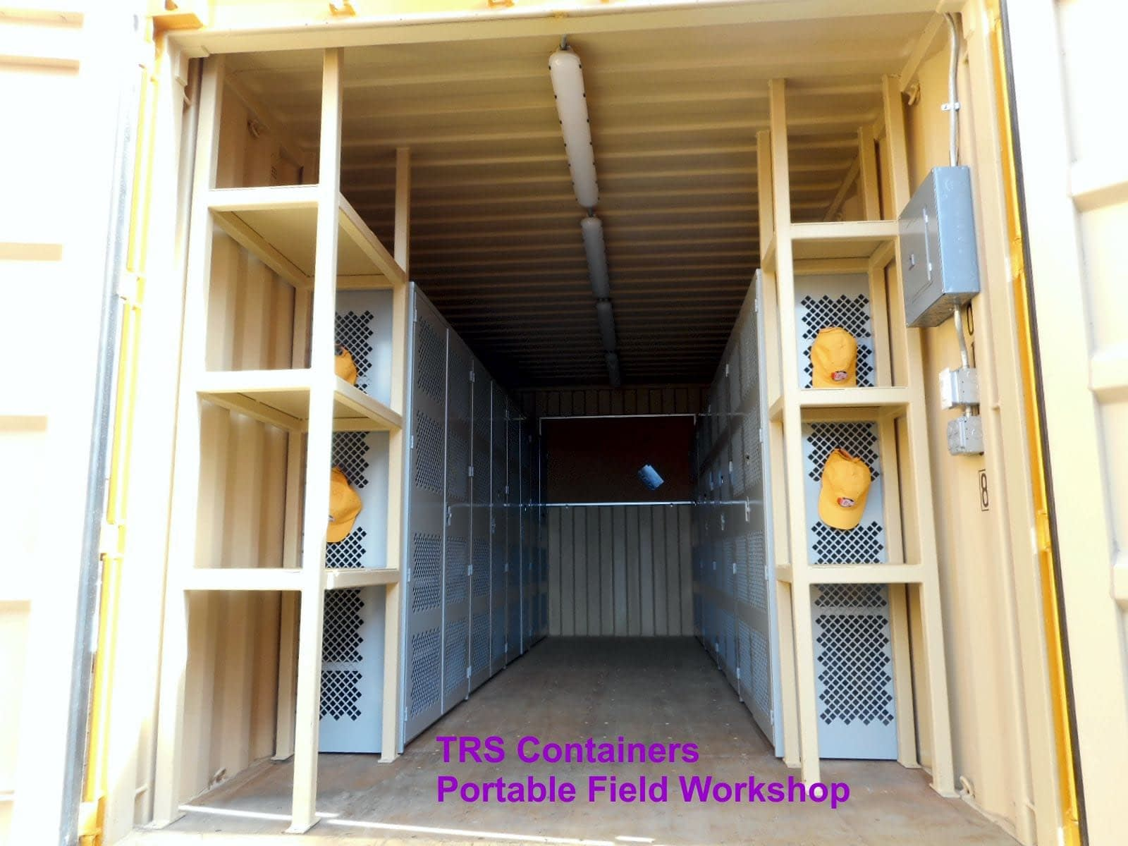 TRS custom 20ft long portable workshop