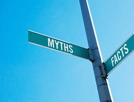 Myths And Facts Street Sign