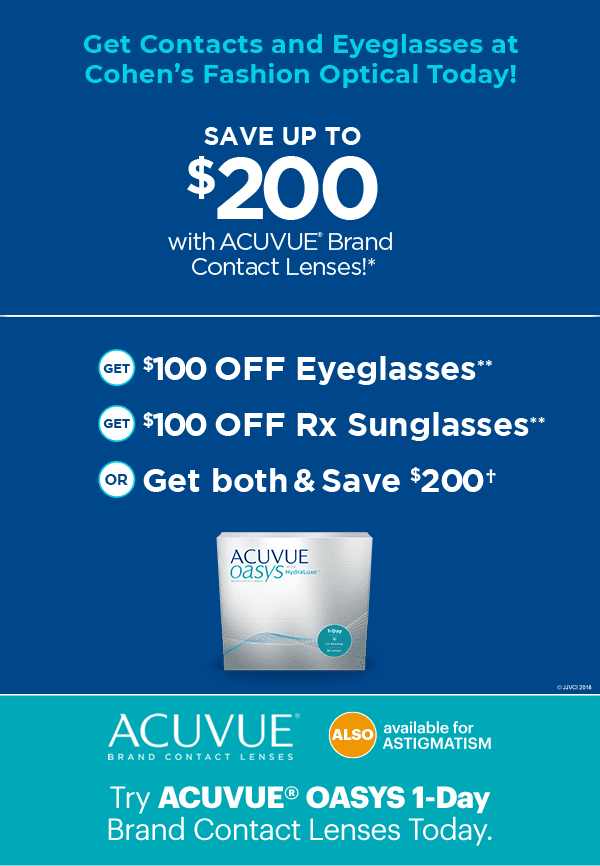 Acuvue Oasys 1 Day Cohen S Fashion Optical