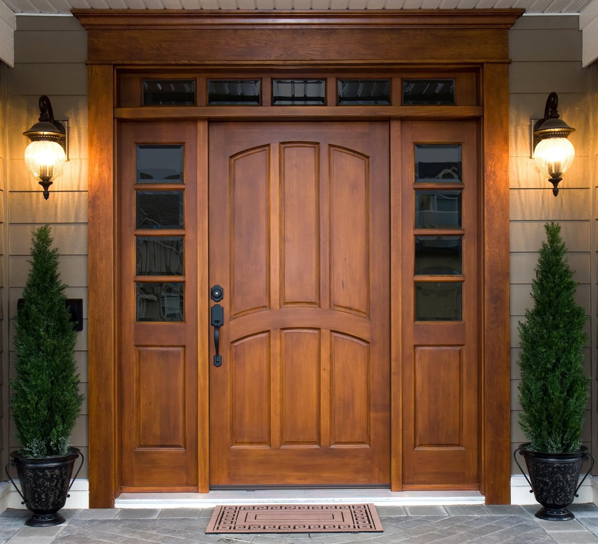 Beautiful Wooden Door New Jersey Siding Windows