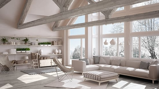 Living room with large windows - New Jersey Siding & Windows